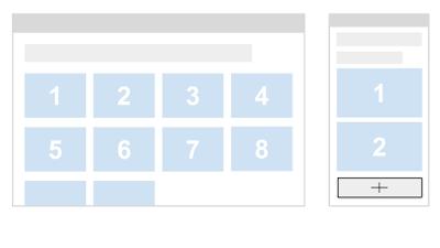 как неправильно подгружать контент на мобильной странице - вариант с кнопкой