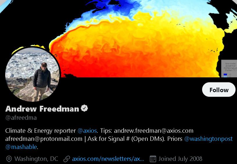 Andrew Freedman - Weather Influencer