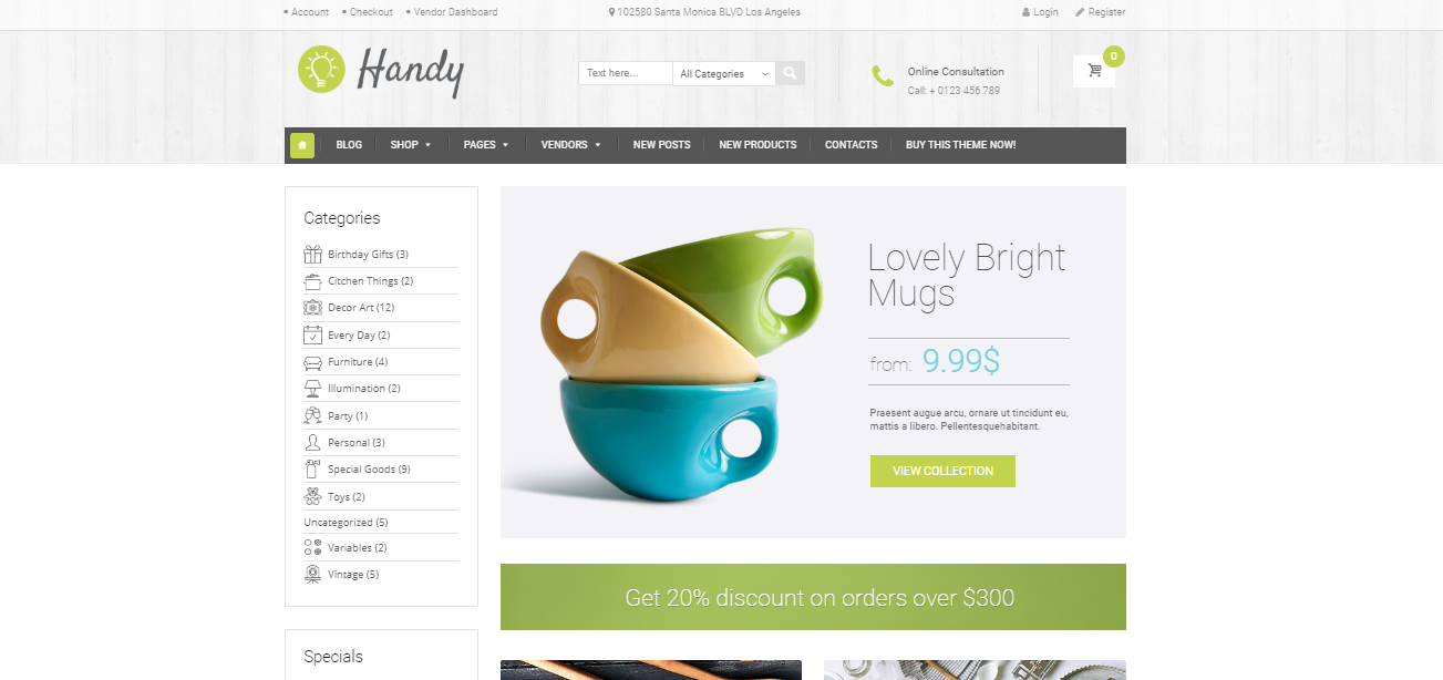 Handy - Crafts Shopify Theme