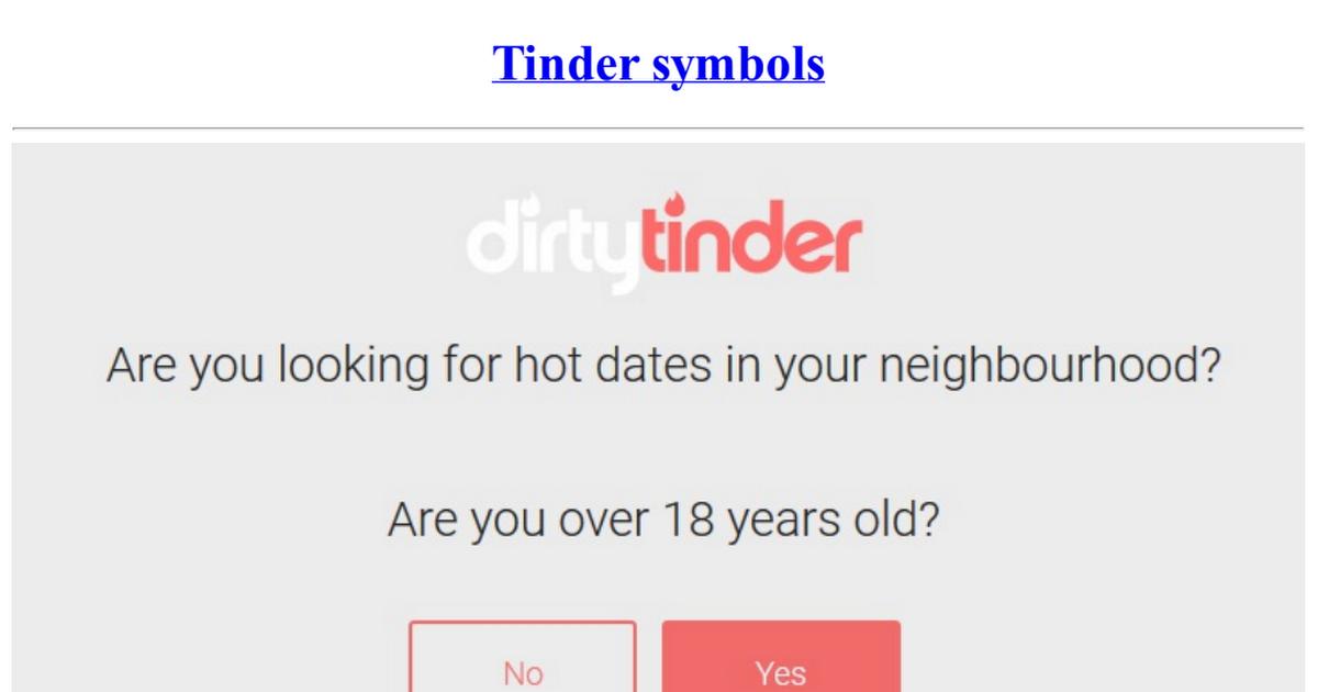 Tinder symboles