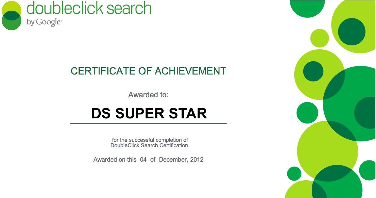 Doubleclick advertiser blog get your doubleclick search after completing and passing the full program the trainee should feel comfortable launching and managing a search campaign analyzing performance through xflitez Images
