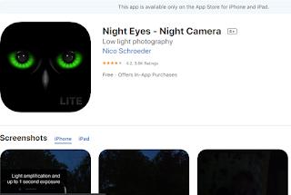 night vision camera app for ios
