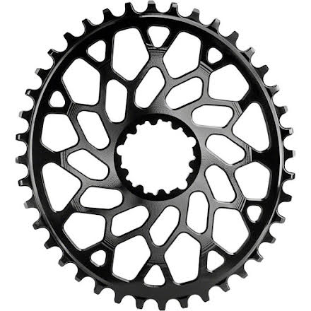 grey 40T Absolute Black 110BCD asymmetric CX 1X oval chainring