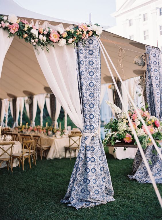 outdoor wedding drapes