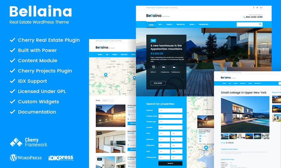 Bellaina: The Real Estate WordPress Theme Aimed To Bring A Success