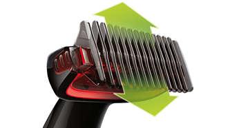 Przycinanie włosów wkażdym kierunku znasadką grzebieniową 3mm