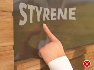 If you push against the styrene, it bends. It is also harder to clean and maintain then our glass