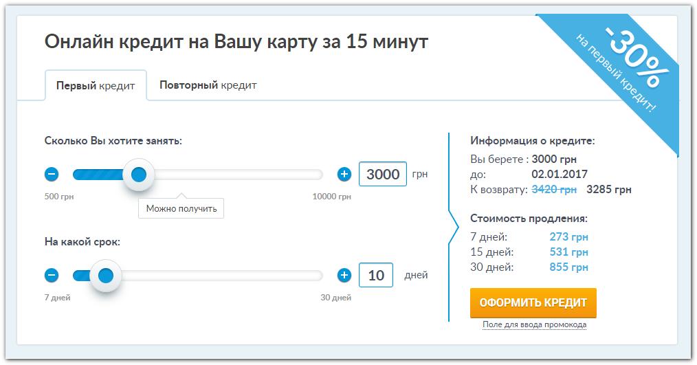 Як отримати мікро-кредит у Credit365