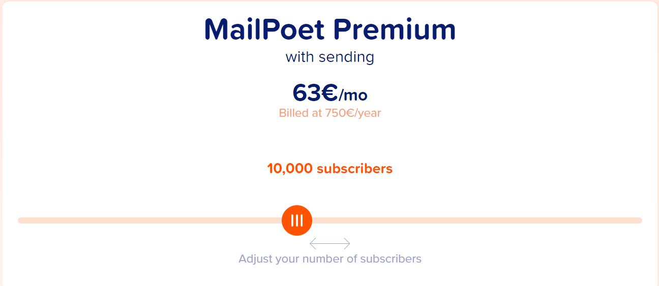 mailpoet cost, mailpoet premium price