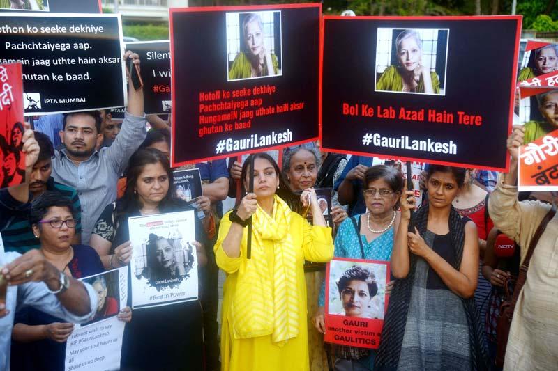 Protest against Gauri Lankesh Murder