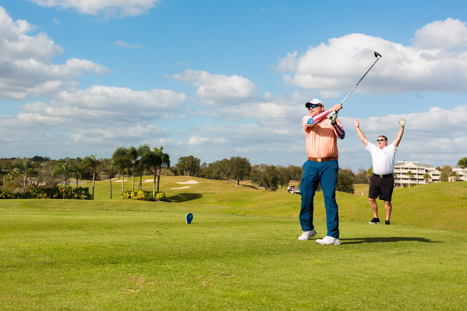 Two Stories Media captures veterans golfing during Tee It Up for the Troops annual reunion event.