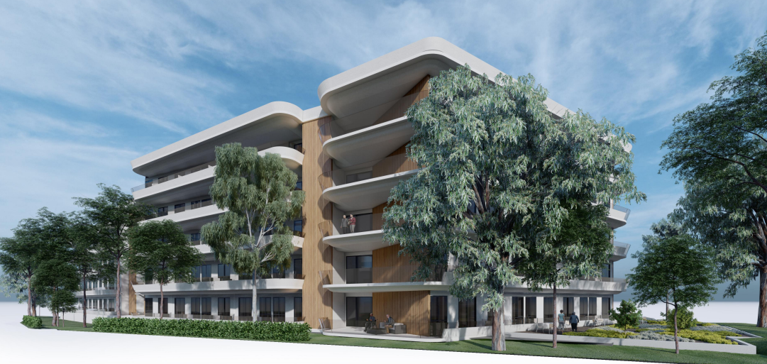 retirement village, childcare centre, and residential care facility on Anzac Avenue