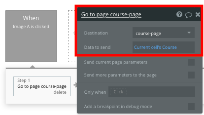 Bubble no code Udemy clone tutorial sending data between pages