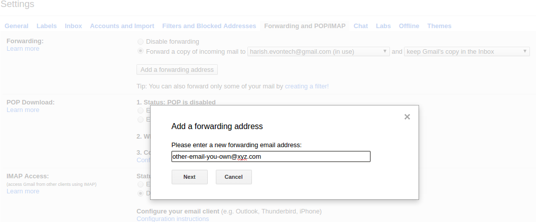 how to create another email address on gmail