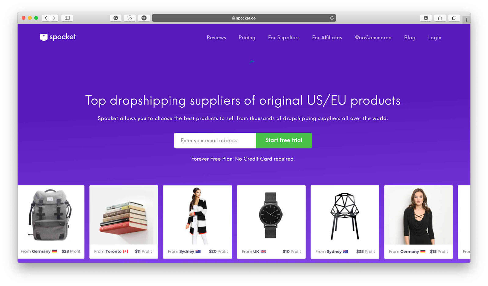 Best drop shipping companies Spocket