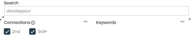 Paramètres de l'extension pour LinkedIn
