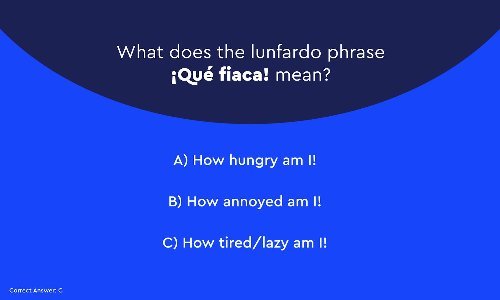 Useful Lunfardo Words