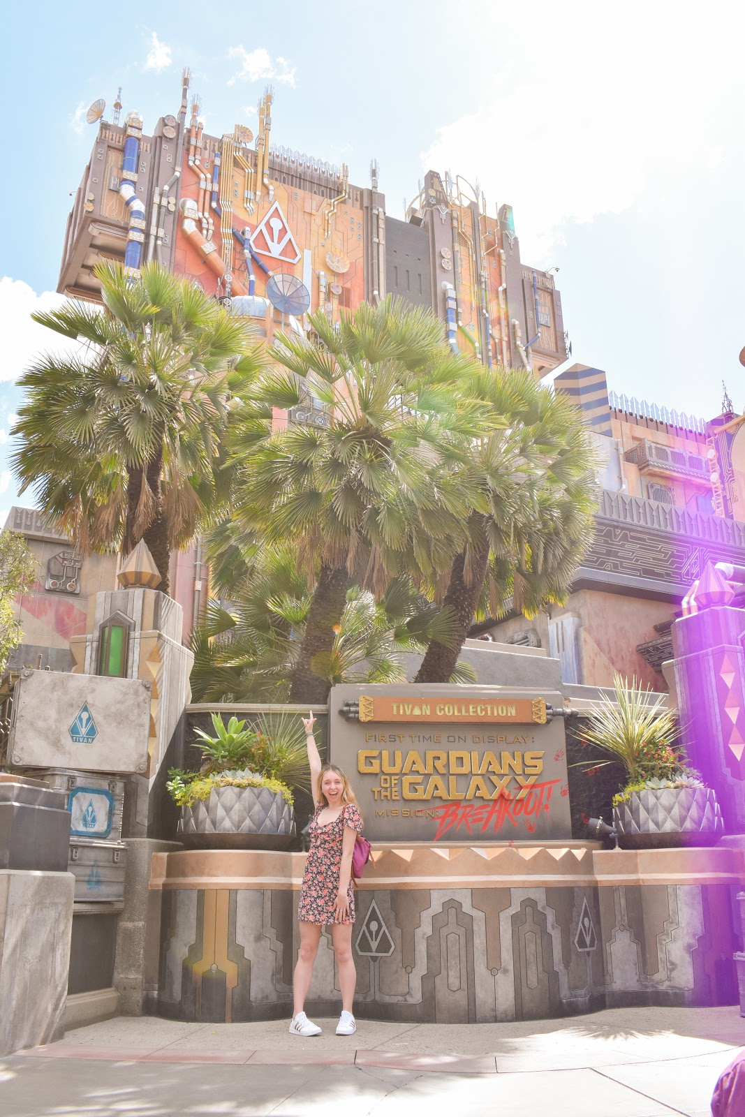 toni with guardians of the galaxy mission: breakout
