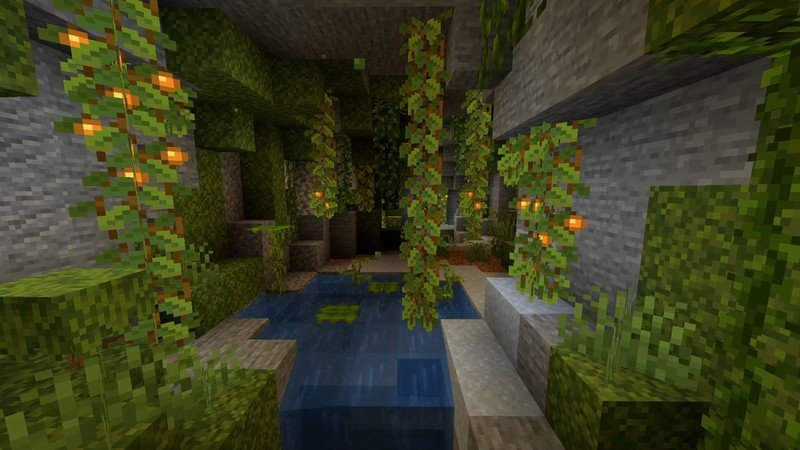 Minecraft: Java Edition Snapshot 21w10a adds Lush Caves biome from 'Caves  and Cliffs Update' | Windows Central