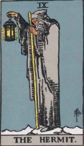 Hermit Tarot card, represents an archetype
