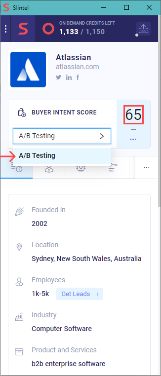How to Find Prospects of Any Company using Buyer Intent Scores