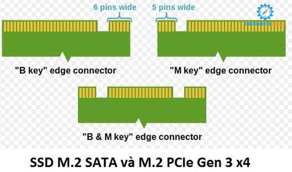 hướng dẫn phân biệt SSD chuẩn M2 sata và PCIe