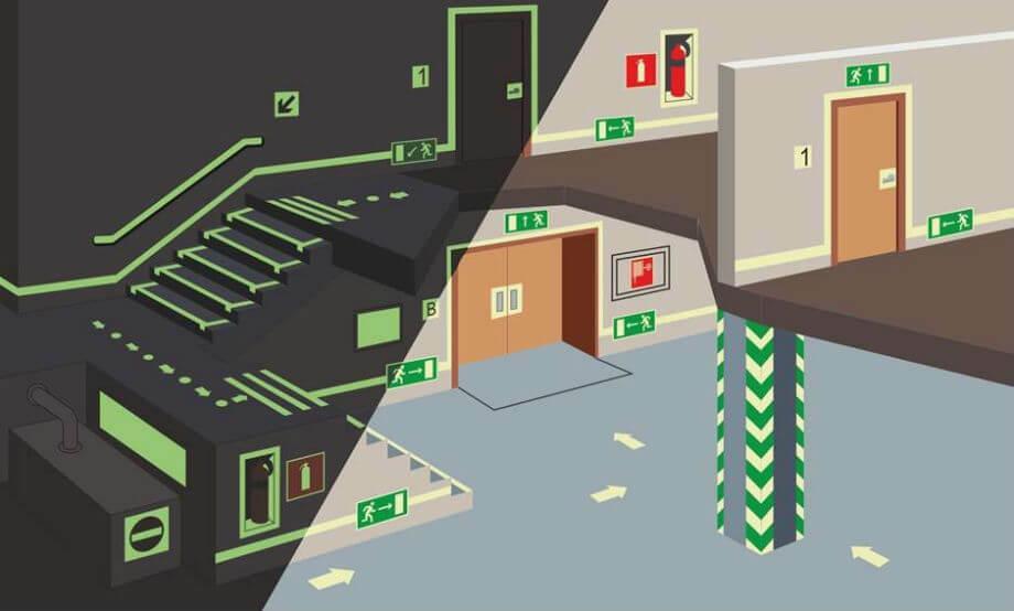 план аварийного освещение