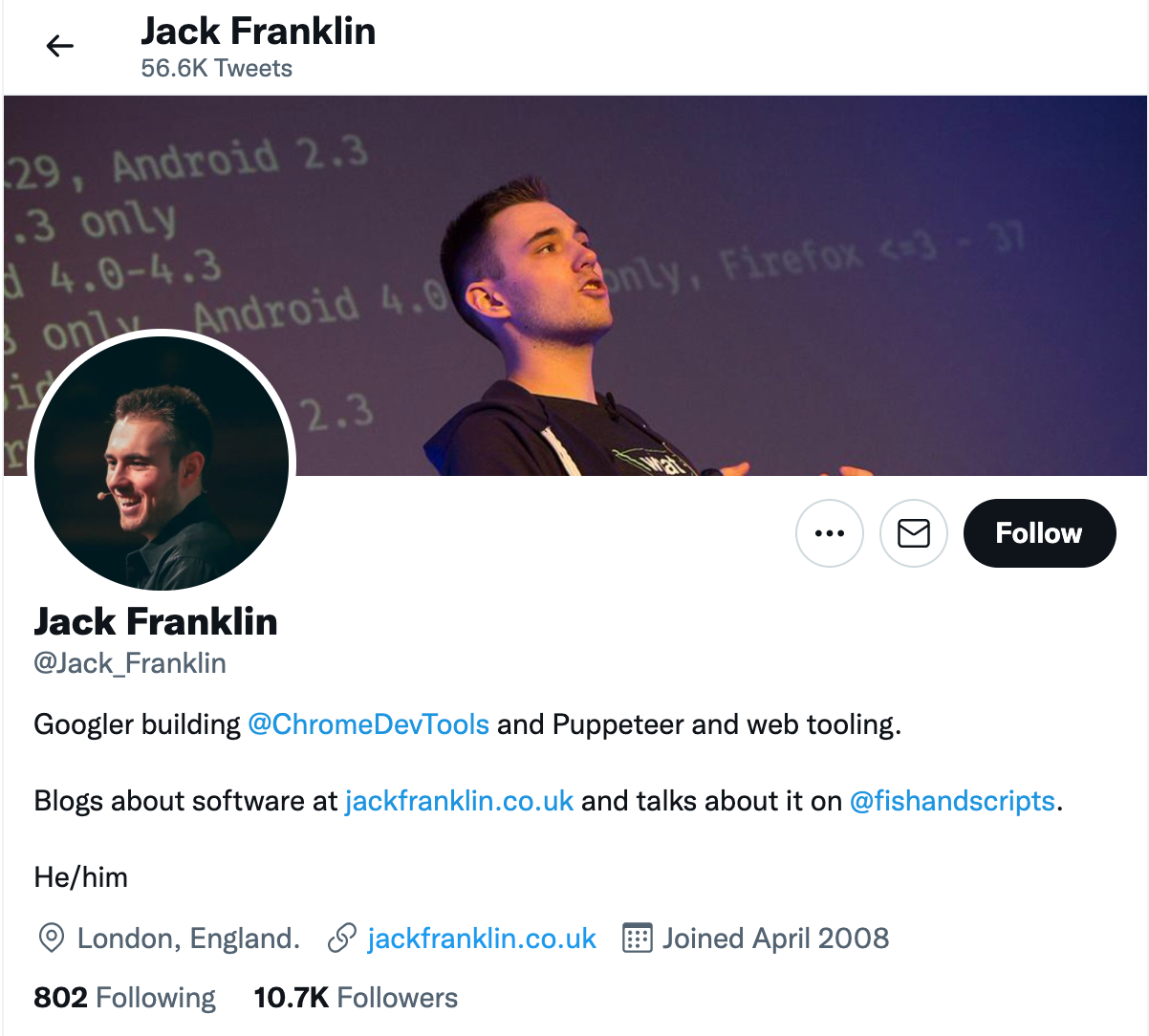 Top JavaScript Experts And Thought Leaders to Follow jack franklin