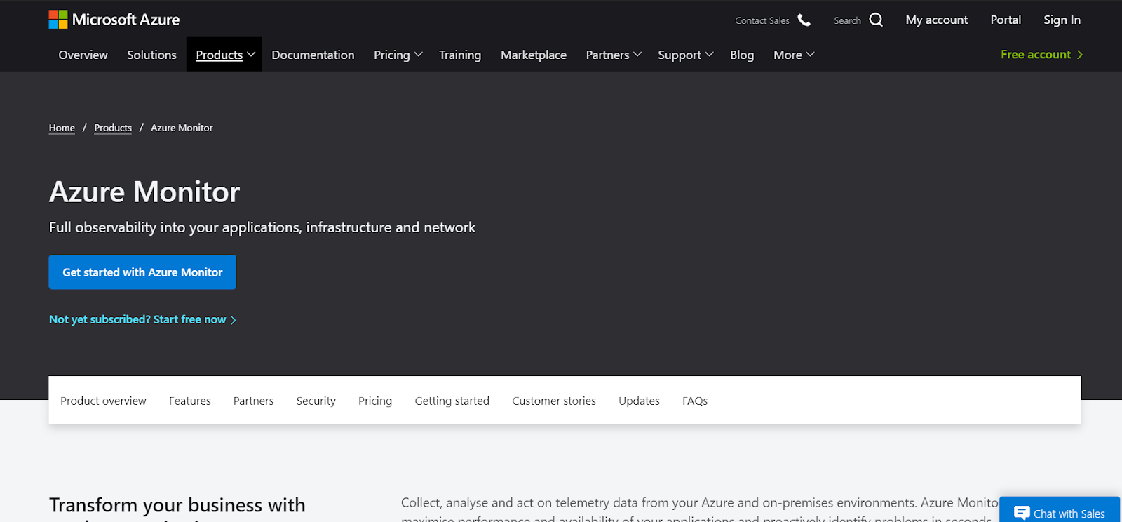 Azure Monitor is one of the best Application Performance Monitoring Tools in the market
