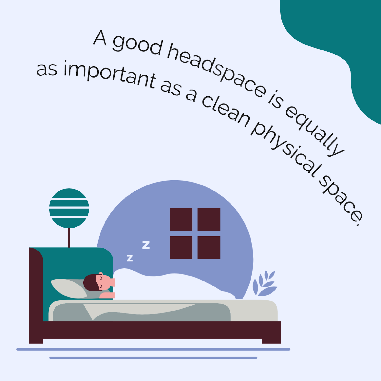 A good headspace is equally as important as a clean physical space, start a new year with good health.