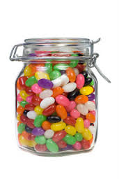 Image result for jelly beans in a jar cartoon