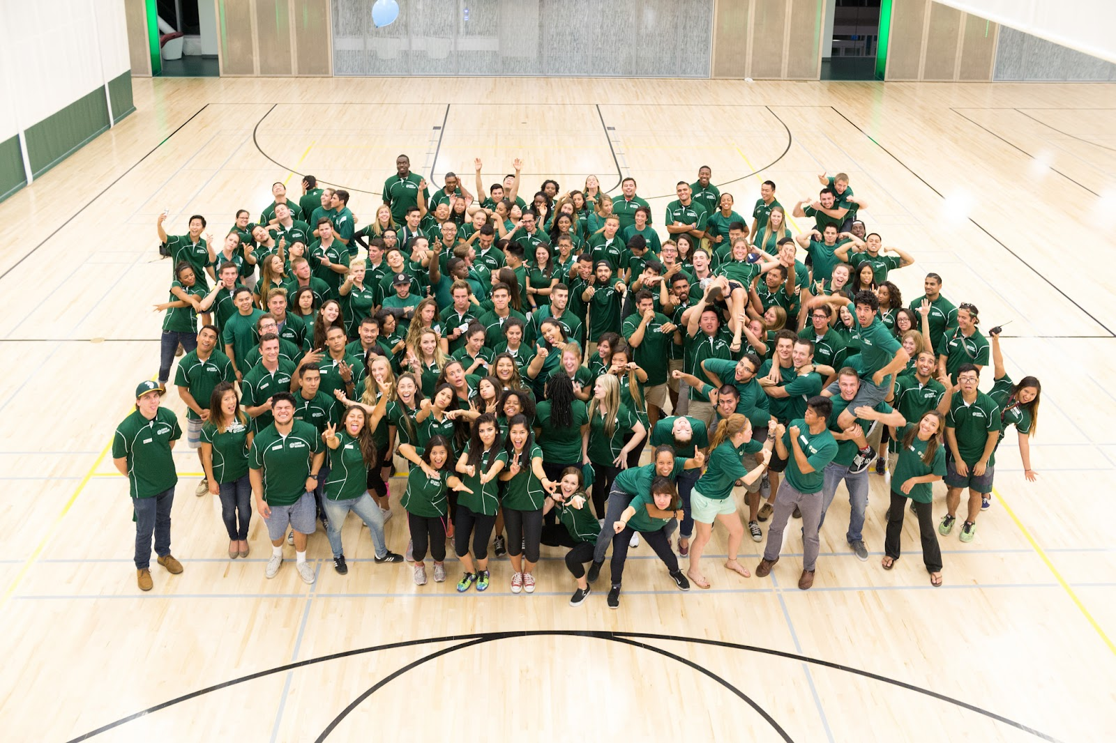 The entire Campus Rec staff poses for a photo
