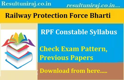 Railway RPF Constable Syllabus 2018