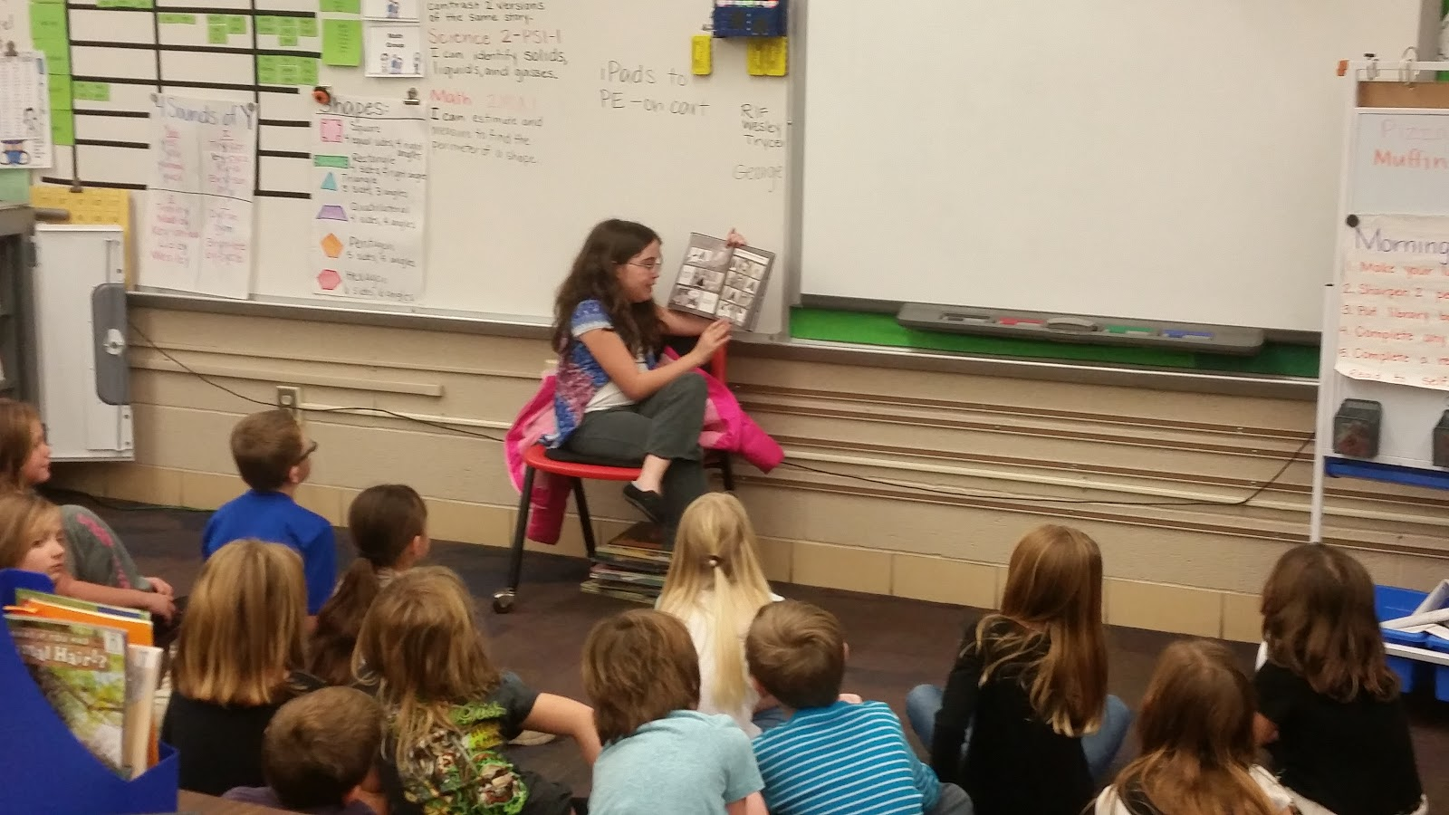 Davis Elementary Students have spent their Davis Dollars (token economy rewards) by choosing to read to classes at Fairview and Bailey Park.