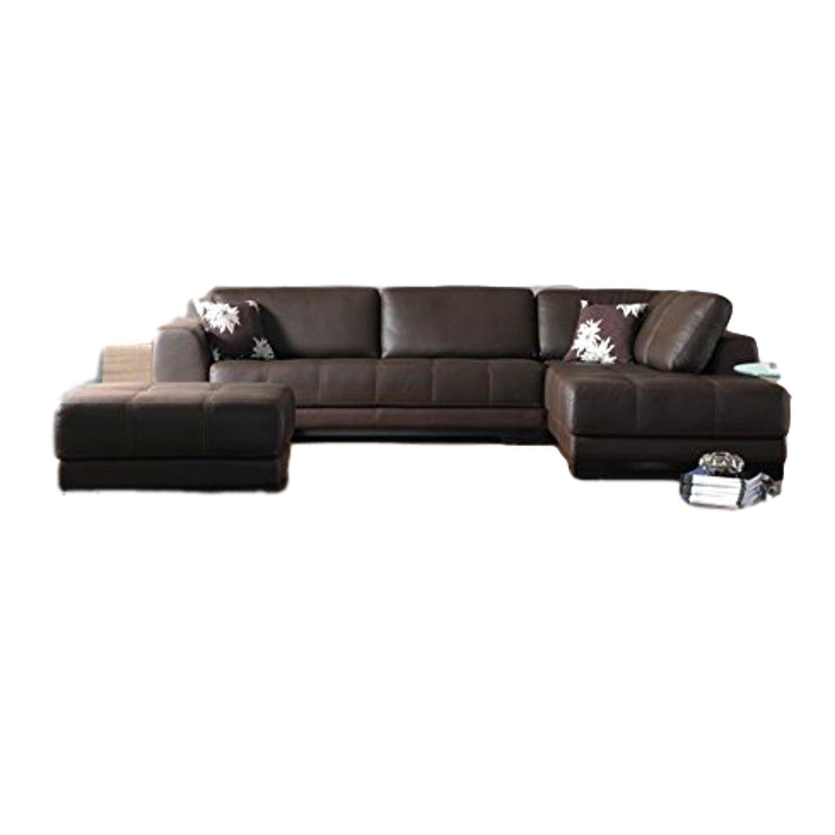 Sofas hub Brown Leather 5 Seater Sofa Set