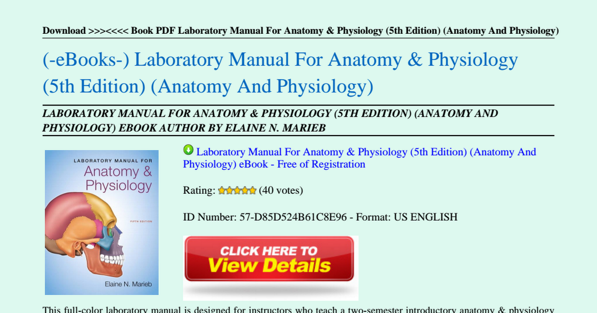 Laboratory-Manual-For-Anatomy-Physiology-5th-Edition-Anatomy-And ...