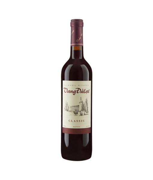 Rượu vang Đà Lạt Classic Red Wine , giá rượu vang đà lạt classic