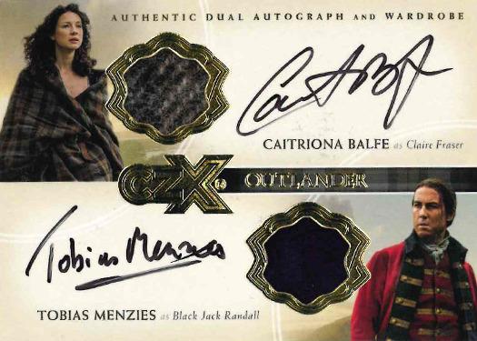 CZX Outlander: Dual Autograph-Wardrobe Card