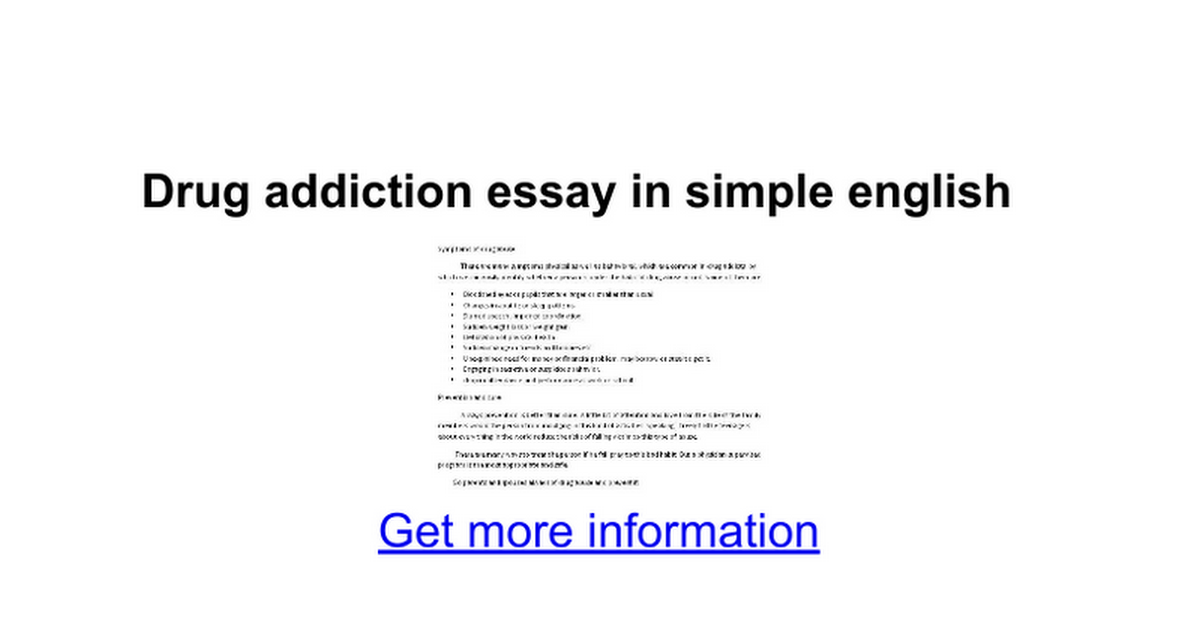 drug addiction essay in simple english google docs