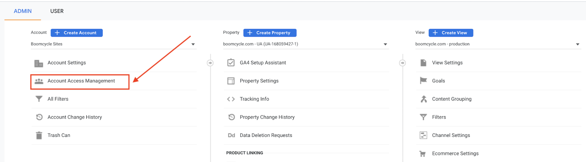 How to Give Boomcycle Access to Your Google Analytics 3