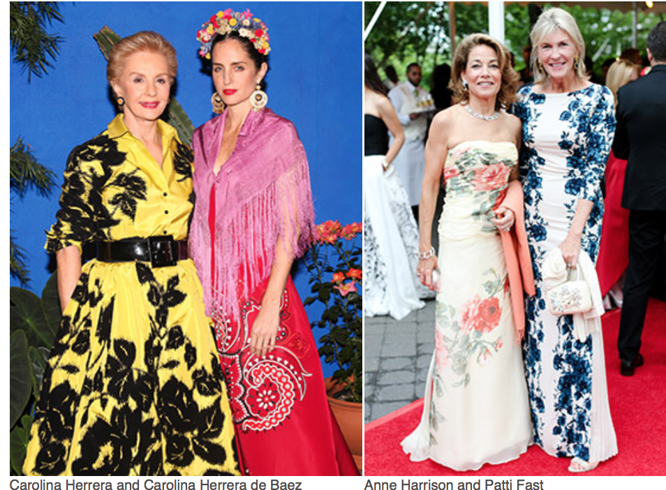 Karen Klopp and Hilary Dick article for New York Social Diary, New York Botanical Garden, Conservatory Ball, Georgia O'Keefe. Carolina Herrera, Carolina Herrera de Baez, Ann Harrison, Patty Fast
