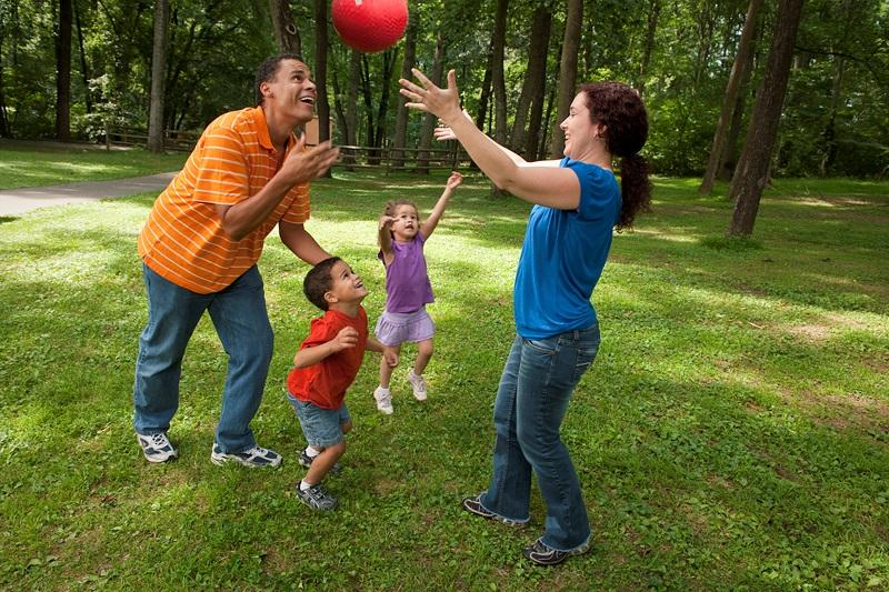 Image result for parents and children playing together