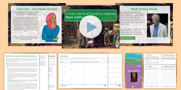 5 Literary Starters Resource Pack to Support Teaching On Black History Month