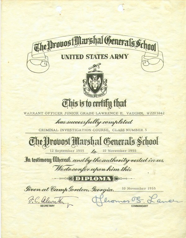 Provost Marshal Generals School Sep 1955.jpg