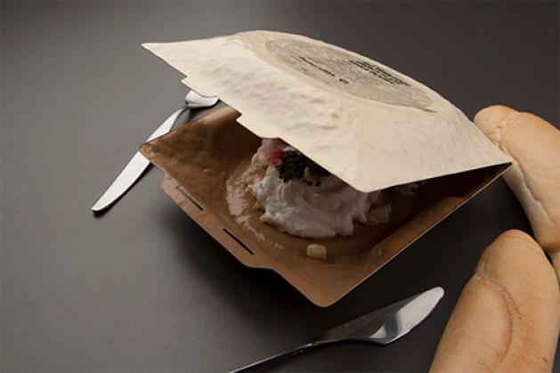 Exemplo de embalagem de amido de milho