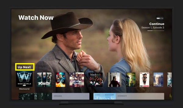 Up Next feature on Apple TV