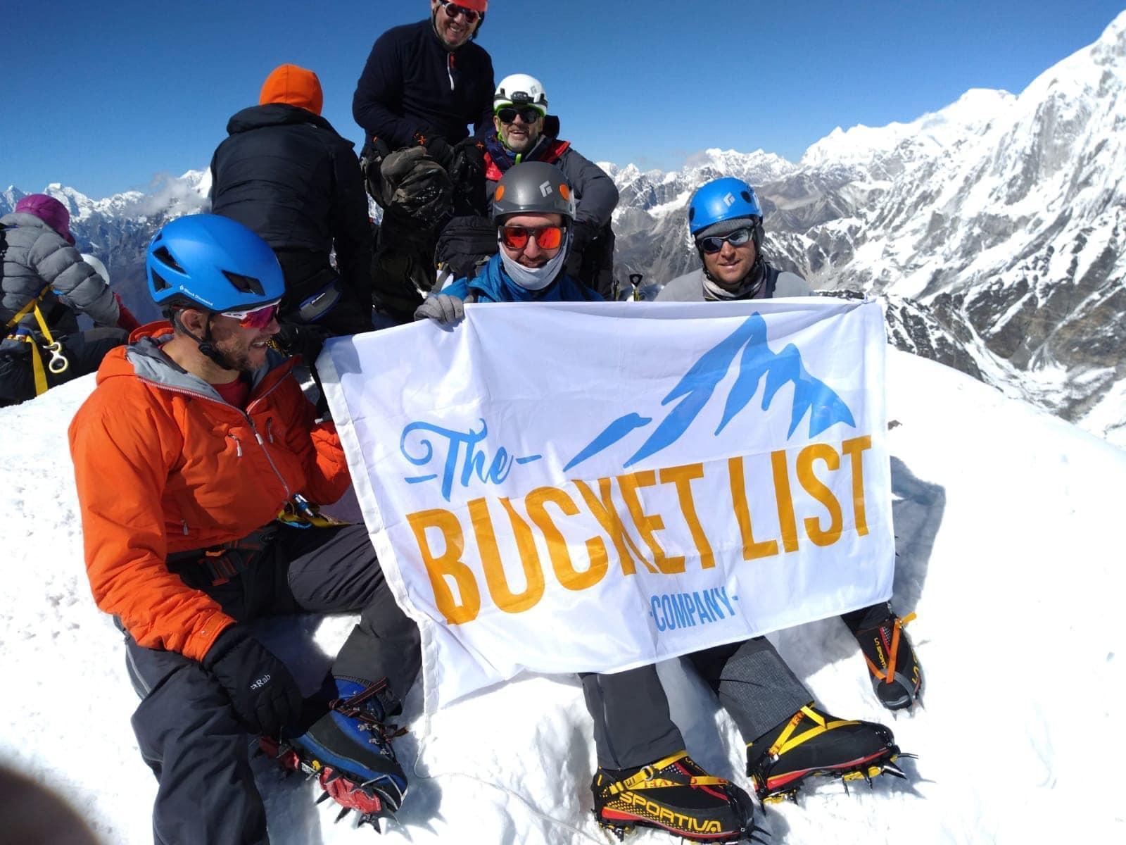 A group at the Island Peak summit
