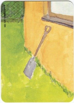 Карта из колоды метафорических карт Ох: лопата у стены