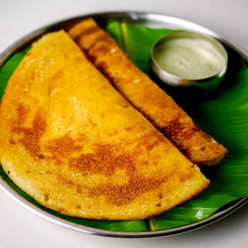 The masala dosa is a classic South Indian breakfast