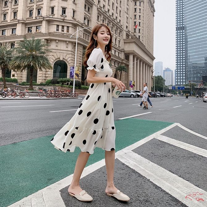 large polka dot dresses